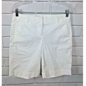 J.Crew Summer Weight Chino Shorts In White Size 2